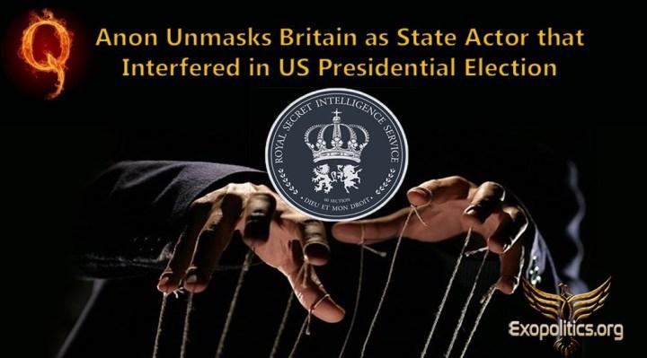 QAnon desenmascara a Gran Bretaña como el actor estatal que interfirió en las elecciones presidenciales deEE.UU.