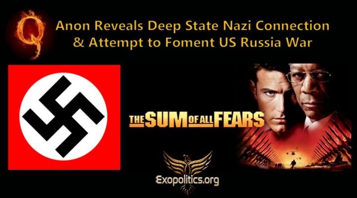 QAnon revela la conexión del Deep State nazi y su intento de fomentar una guerra entre EE.UU. yRusia