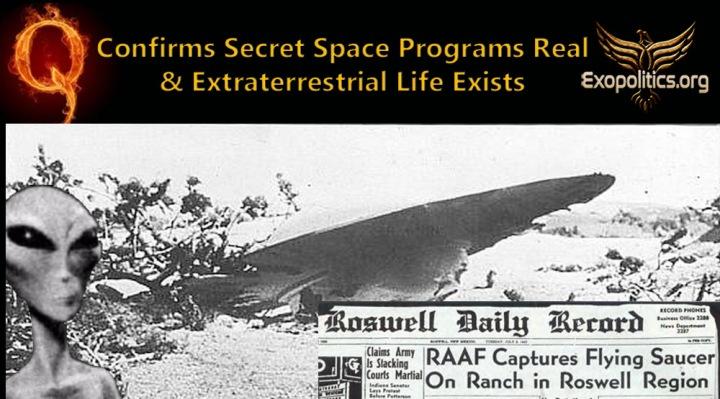 Q confirma que los programas espaciales secretos y la vida extraterrestre sonreales